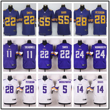 For Mens,Elite Everson Griffen,Cordarrelle Patterson,Kyle Rudolph,Anthony Barr,Adrian Peterson, purple WHITE Rush stitched(China (Mainland))