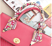 bags handle small ribbon accessories twilly bag silk scarf(China (Mainland))