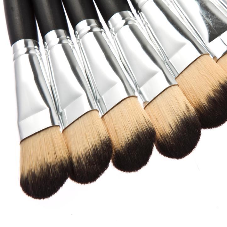 Cabo de madeira preto melhor escova profissional kabuki pó escova e para beautyx1