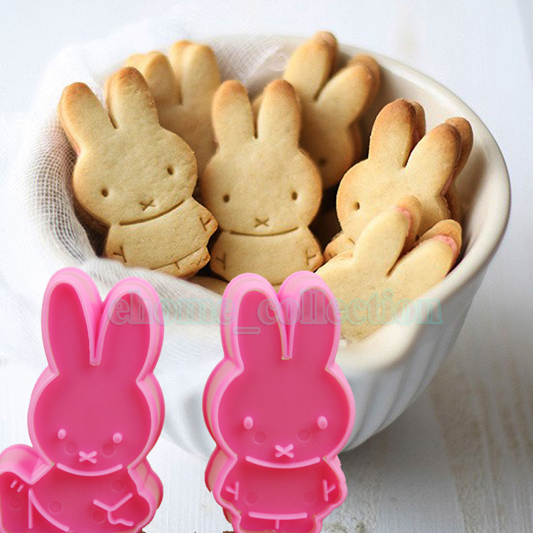 2Pcs Really Cute Rabbit Plunger Cookie Cake Mold Cutter Girls' Love Decoration DIY Cooking Sugarcraft Baking Kitchen Tools(China (Mainland))