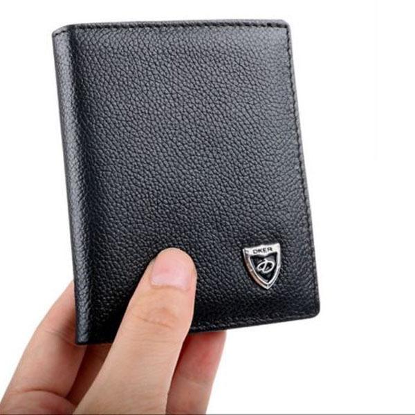 1 шт. высокое качество мода мужская кожа кожаный бумажник ID держатель карты кошелек ...
