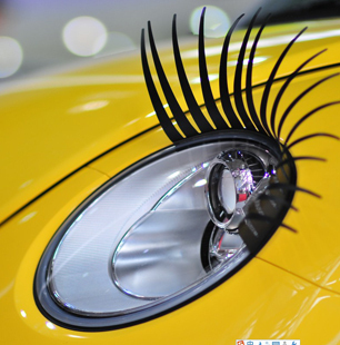 Free shipping Wholesale - Super Qualityey Car Eye Lashes And Detail Discount Promotion Headlight Eyelashes Sticker