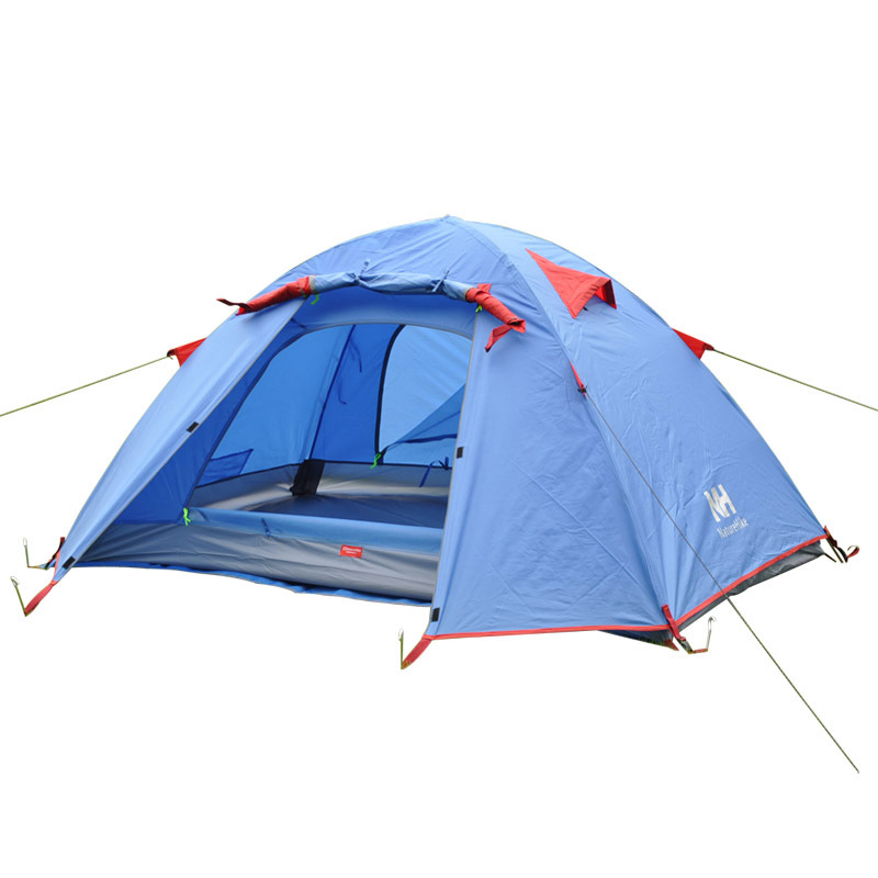 Naturehike waterproof Windproof Outdoor 2 person Double Layer Aluminum Pole Tent Ultralight travel Hiking Camping Tent 1.9KG