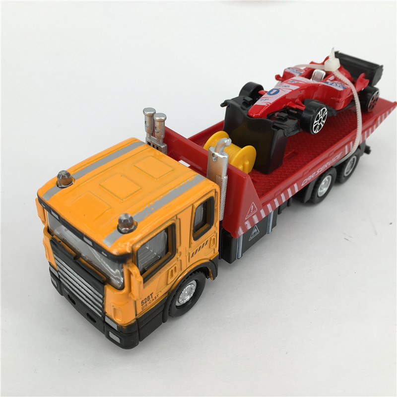 1:60 Simulating Truck Model Toy Die cast Metal + ABS Truck*1 + Sports car *1 Kids Toys Vehicle Brinquedos(China (Mainland))
