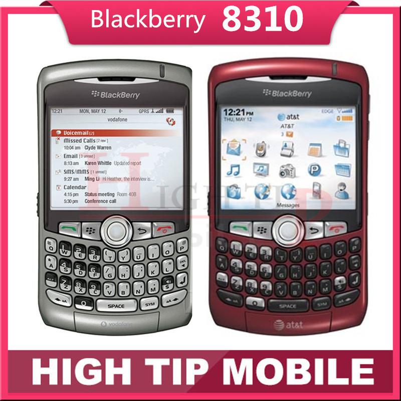 Original unlocked Blackberry 8310 curve Qwerty phones 2MP Refurbished Quad band Smartphone Free Shipping 1 year warranty(China (Mainland))