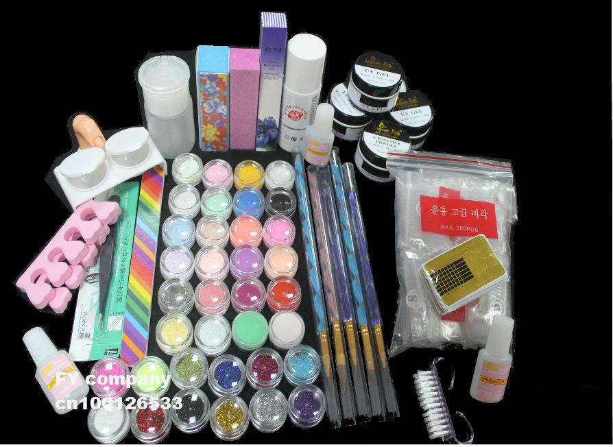 uv gel nail white pink clear color nail brush uv gel glitter clear Fingernail(China (Mainland))