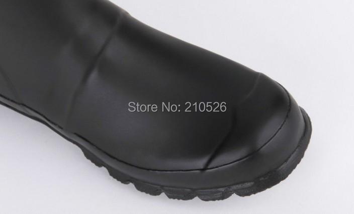 Women Fashion Original Name Brand H Tall Knee-high Rain Boots Low