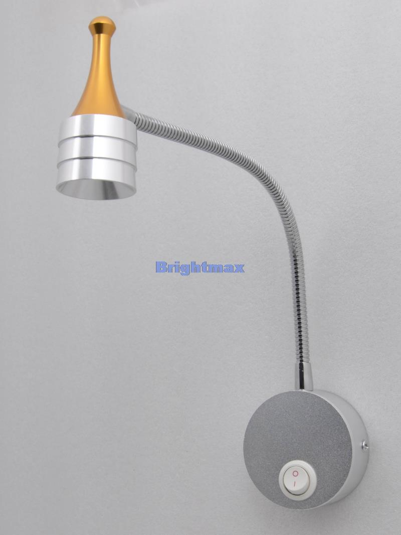 Bedside Wall Lamp With Led : LZ038A G CREE 3W LED bedside lamp LED wall lamp LED reading light LED spotlight Flexible arm ...