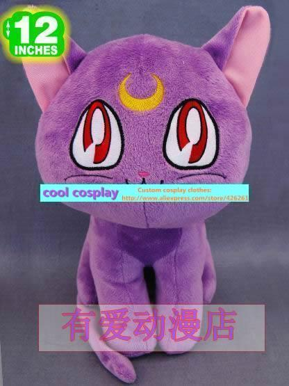 Lunar font b Anime b font Sailor Moon Artemis Diana Cat plush doll toys kawaii Soft