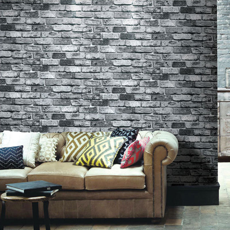 Brick Stone Wall Paper Chinese Rustic Vintage 3D PVC Exfoliator Embossed Washable Living Room Backdrop WallCovering(China (Mainland))