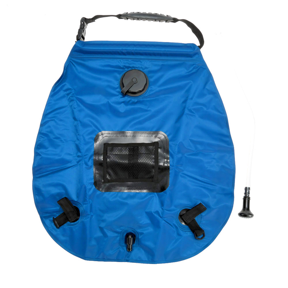 20L Lightweight Portable Outdoor Solar Shower Bag with Removable Hose and Switchable Shower Head Camp Camping Shower Water Bag(China (Mainland))