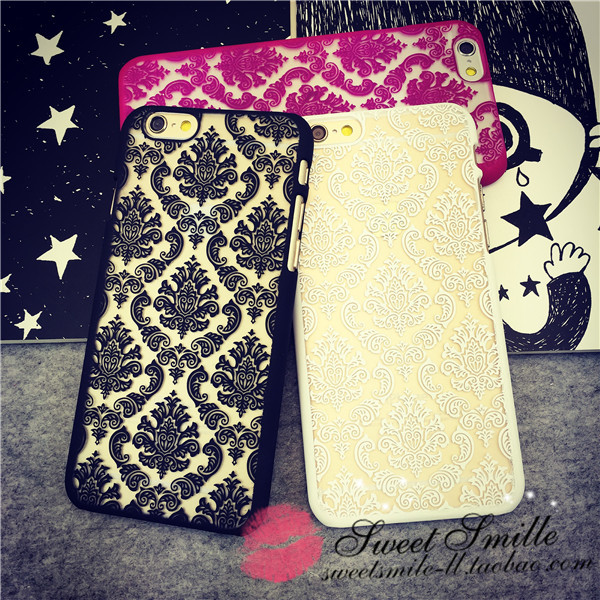 Carve patterns or designs on woodwork printing frosted shell phonecase for phone5 to6 ip(China (Mainland))