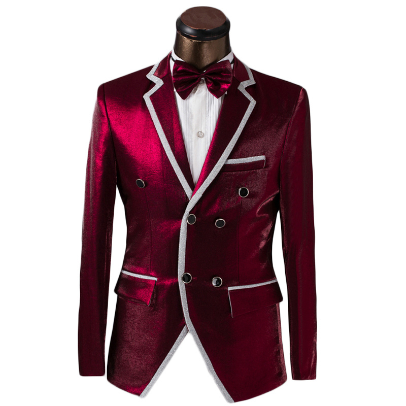 Luxury Custom Men Double Breasted Suit Fashion Design Mens