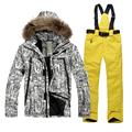Outdoor ski wear waterproof overalls suit boy snowboarding down ski jacket thick warm winter mountaineering men