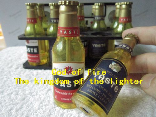 Factory price $0.2piece Beer bottles lighter Gas lamp, cigarette lighter gas(China (Mainland))