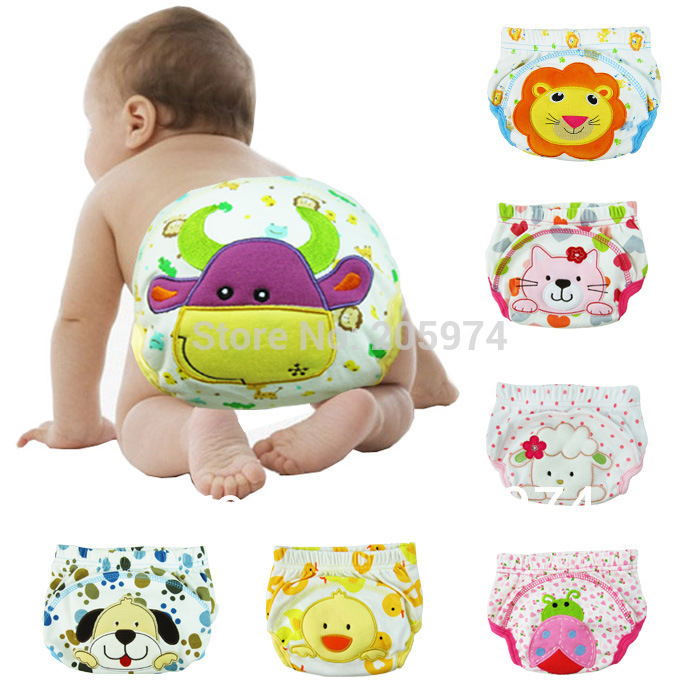 Free shipping Sassy Baby Nappies boy girl infant toilet pee potty training pants cloth diaper children's underwear P2(China (Mainland))