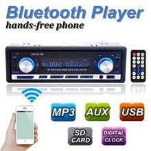 2015 a estrenar 12 V BLUETOOTH 1-Din Radio estéreo MP3 USB / SD AUX reproductor de Audio en el tablero 60Wx4 para el teléfono(China (Mainland))