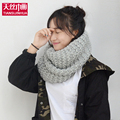 2016 New fashion style Woman Winter knitted Scarves Wool Collar Neck Warmer woman Crochet Ring Spain