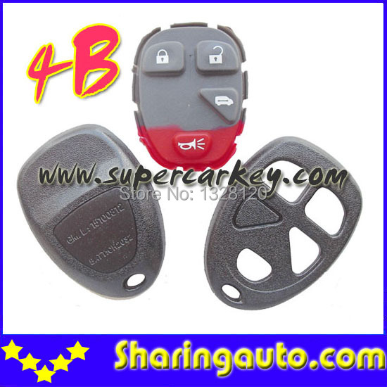 Free shipping Buick Chevy GM 15100812 4 Button Remote Keyless Shell 10pcs/lot<br><br>Aliexpress
