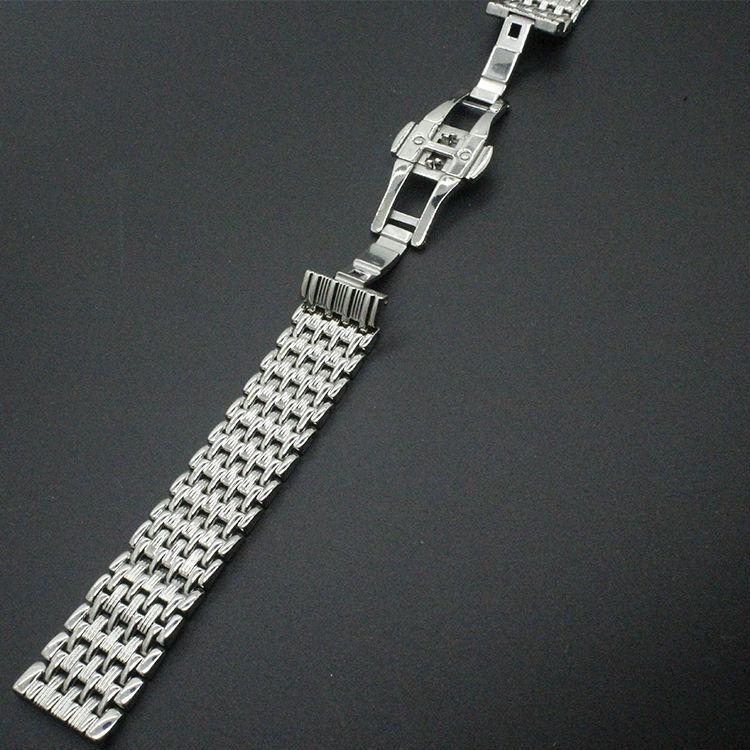 22 мм 20 мм 18 мм новые тонкие высокое качество полированная ремешок для часов браслеты чистого твердого нержавеющей стали 316L ремешок для часов ленты браслеты