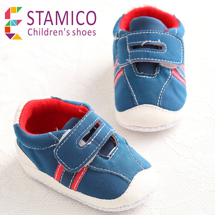 Baby Boy's Sneakers 2015 Newborn Infant Tennis Casual Pram First Walker Patchwork Velcro Easy on and off Crib Shoes(China (Mainland))