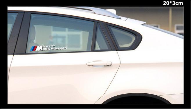 2pcs Good quality Car sticker M power Motorsport performance Emblem for X3 X1 X6 M3 M5 F35 F30 F18 F10(China (Mainland))