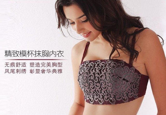 Lace boob tube top 5pcs/Lot High quality lowest price!!!Fine workmanship Free shipping gather Shapping body  bra underwear WX-1