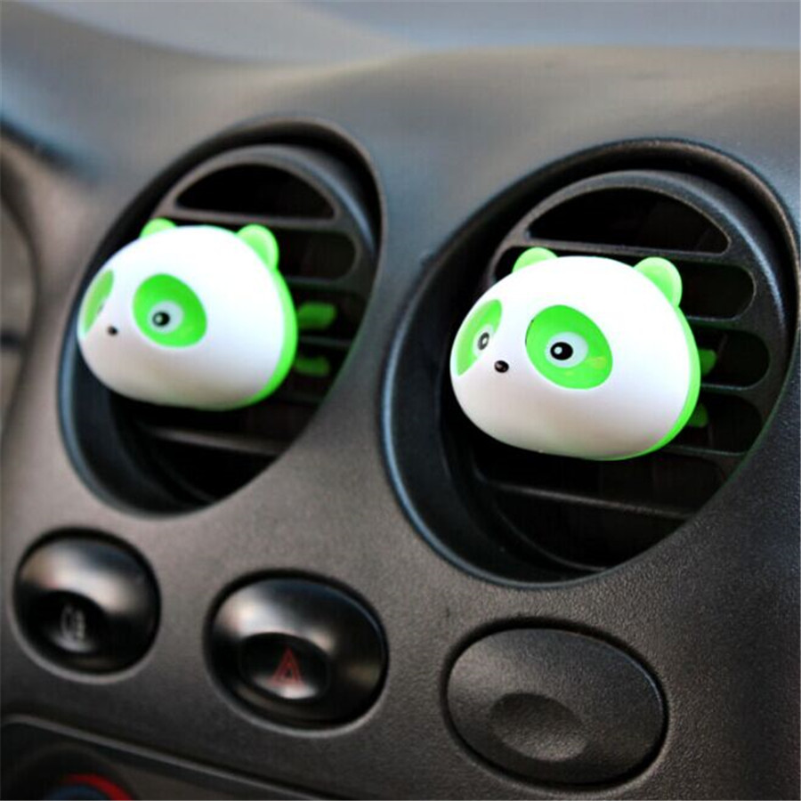 One Pair Cute Panda Auto Car Air Freshener Clip Perfume Diffuser for Car Home HG Car Decoration 2016 New Arrival(China (Mainland))