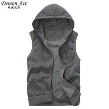 Mens Sleeveless Hoodies Fashion Casual Sports Sweatshirt Men Hip Hop Hoodie Men's Sportswear 5 Colors Size M-XXL A36(China (Mainland))