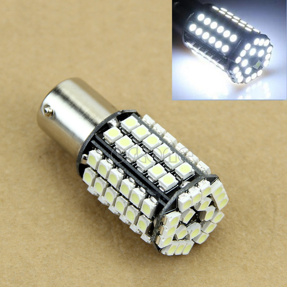 Hot White Car 1156 382 Tail Turn Signal 80 SMD LED Bulb Lamp Light BA15S P21W Free Shipping(China (Mainland))