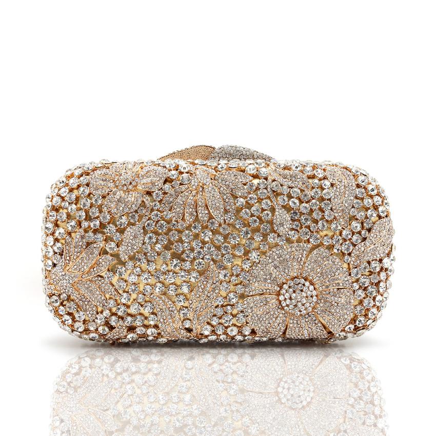 Bolsa De Festa Clutch : Designer luxury bag crystal evening clutch party bags six