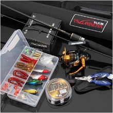 New Arrival EMS free Shipping 2.1M M/MH Blue Casting Fishing Rod Set Casting Fishing Reel Fishing Lure and Fishing Tackle Set