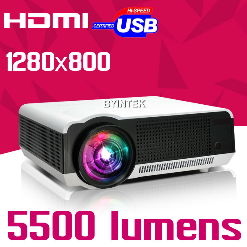 2016 New Home Theater 5500lumens 1280x800 1080p Video HDMI USB LCD LED Projector FUll HD Beamer Proyector Projetor(China (Mainland))