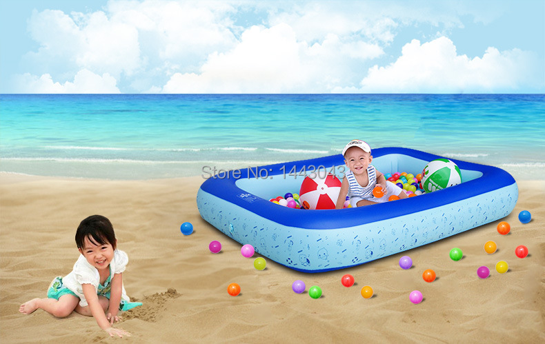 environmental PVC material children's inflatable swimming pool baby large thicken bath pool with foot pump(China (Mainland))