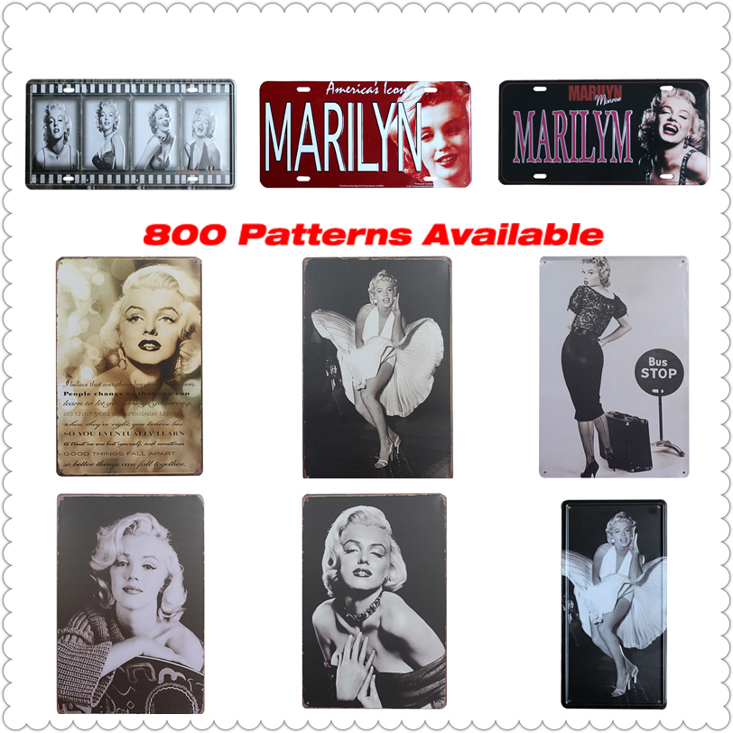 shabby chic marilyn monroe vintage metal signs home decor metal home decor signs trend home design and decor