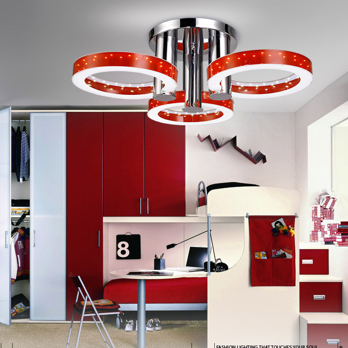 Modern Embeded Led Acrylic Ceiling Lights With 3 Lights