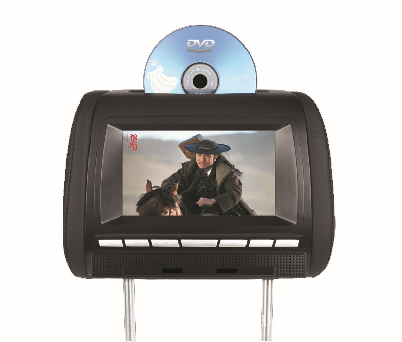 7 Inch Headrest Car DVD Player with FM Transmitter USB/SD(one piece price)(China (Mainland))
