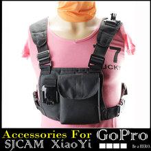 Summer Style Chest Strap for Go pro Hero3 Hero4 GoPro hero 1234 SJCAM Sj4000 Sj5000 Xiaomi Yi Accessories Black Eidtion
