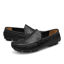 2016 Flats New Arival Authentic Brand Casual Men Genuine Leather loafers Drive Shoes Plus size Euro38