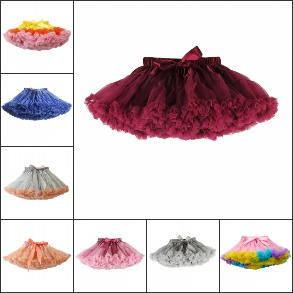 Baby And Children Girl Colorful Girls Fluffy Pettiskirts Chiffon Tutu Petti Skirt Princess Skirts<br><br>Aliexpress