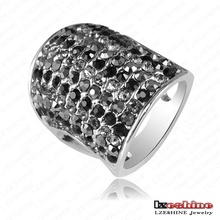 2013 Big Knuckle Ring Platinum Plating Multi-colors Austrian Crystal SWA Elements Rings Jewellery 21*33mm Ri-HQ0058