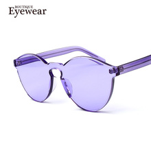 BOUTIQUE Transparent frame WOMEN brand circle Colorful Coating SUNGLASSES fashion men fashion glasses Good quality(China (Mainland))