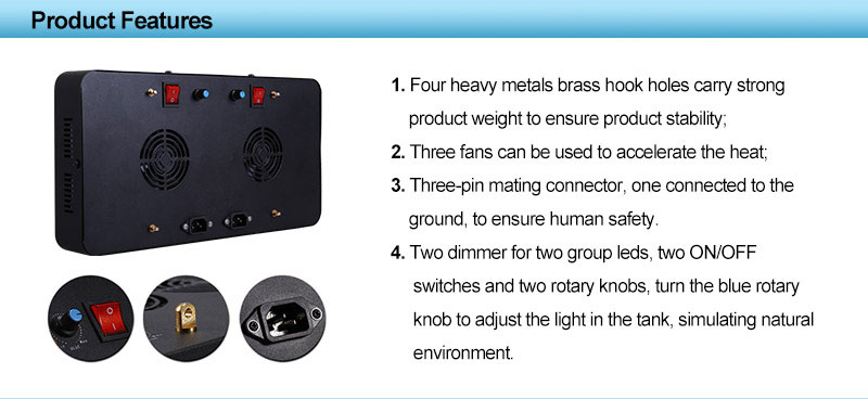 165W dimming aquarium light Free Shipping for reef marine tank with 3 years warranty white black aquarium light lamp
