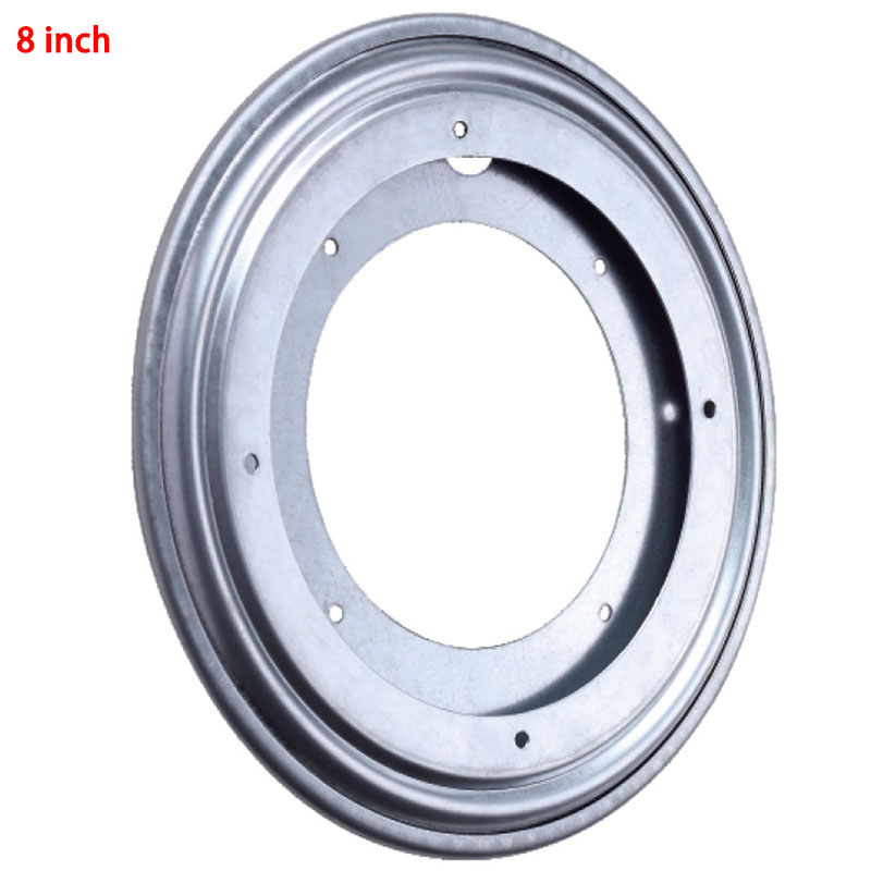 NEW Silver Round Metal Ball Bearing Rotating Table Swivel Plate TV Rack Desk Turntable For Kitchen Tools 8Inch(China (Mainland))
