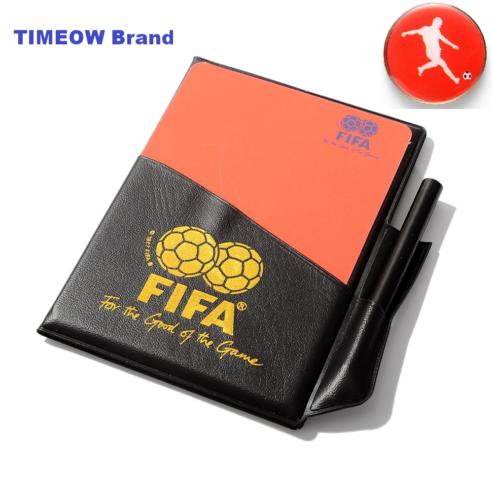 Football Referees Fluorescent Red Yellow CARDS Judge Case Soccer Sport Professional Equipment + Referee Coin(China (Mainland))