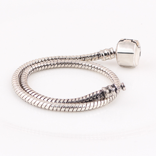 DIY Bracelets Vintage Silver Snake Chain Fit For Pandora Bracelet European Murano Beads DIY Troll Czech Glass Bead Big Hole(China (Mainland))