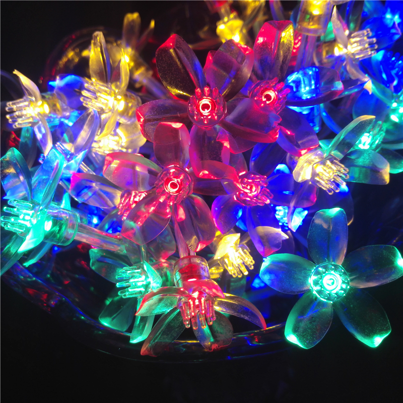40LED 4M Battery LED Strings Cherry led Christmas Decoration String Lights Garden Path Decorative Floral Lightings vedly2016(China (Mainland))