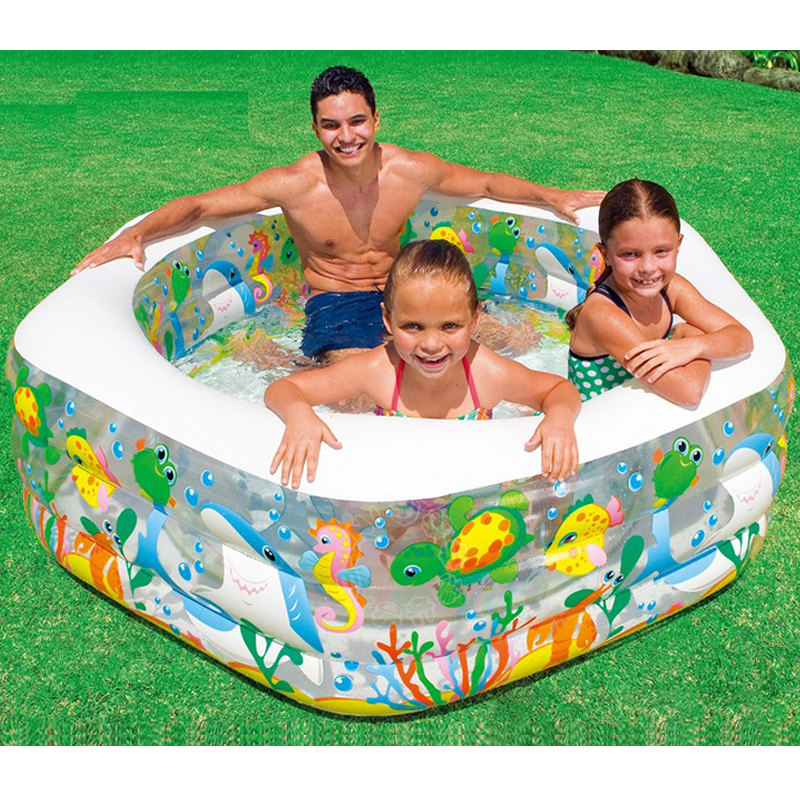 For kids over 3 years old children cartoon dolphin shape for Large size inflatable swimming pool