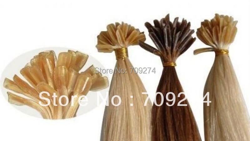 Grade 10a u stick keratin u tip pre-bonded remy human virgin Brazilian hair extension #10 #22#27 #33 #30 #613 #60(China (Mainland))