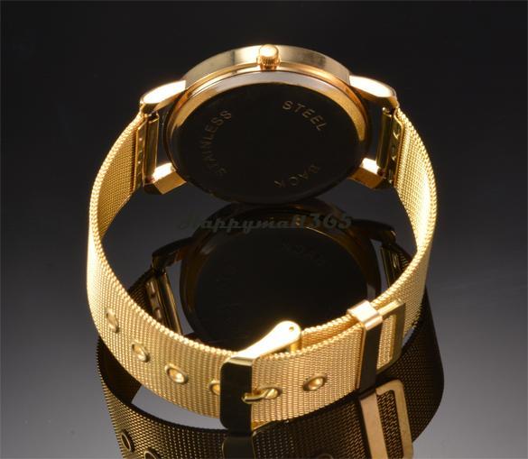 Top Quality !Watches Men Luxury Brand Women Dress Watches Casual Golden Net Dial Quartz Bracelet Wrist Watch b7 SV005308(China (Mainland))